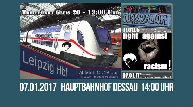 Dessau: Gedenkdemonstration für Oury Jalloh