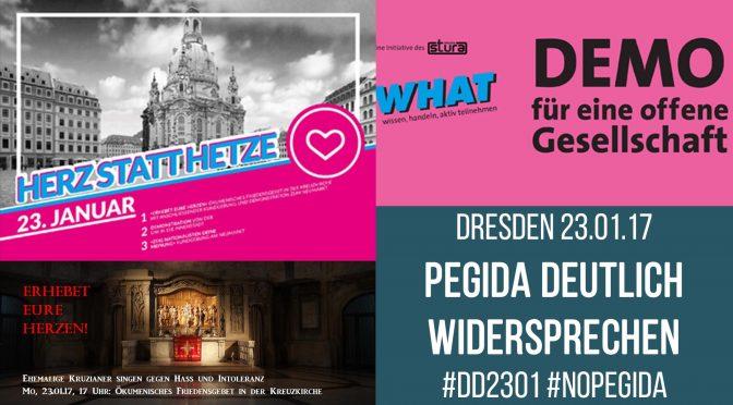 Dresden, Demo für eine offene Gesellschaft