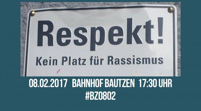 Am 8.2.2017 in Bautzen gegen die AfD protestieren!