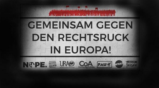 Gemeinsam gegen den Rechtsruck in Europa! #DD0605