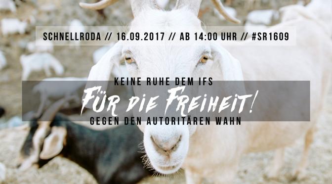 Keine Ruhe dem IfS – am 16.09.2017 in Schnellroda protestieren!